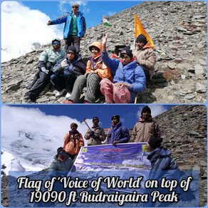 A completely Visually Challenged Teenager conquers a 19000 feet peak - RudragairaA completely Visual