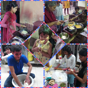 Holi Celebrations at 'Voice of World' with Colours in the morning & Egg Roll in the evening