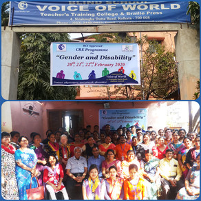 'Voice of World' organizes a 3 Day CRE Workshop on 'Gender & Disability'