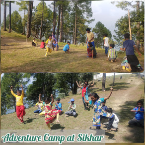 Adventure Camp of 30 Underprivileged Children of 'Voice of World' at 8000 ft (Approx.) at Sikhardham