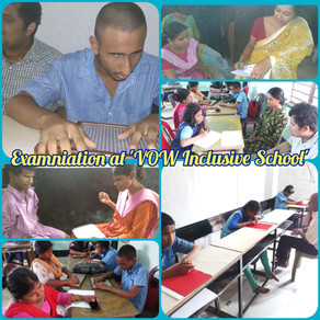 """Exams at """"Voice of World Inclusive School"""" - an effort to ascertain what the students know"""