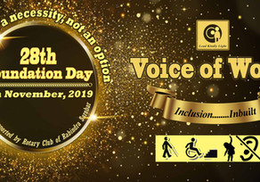 'Voice of World' observes its 28th Foundation Day on 4th November, 2019 at Rotary Sadan