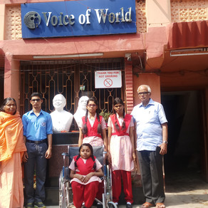 Four Underprivileged Differently-abled Students of 'Voice of World' appear for Secondary Exams