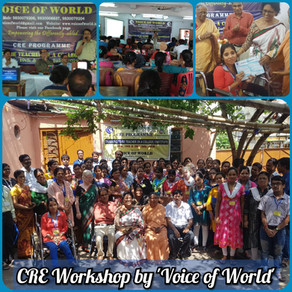 3 Day CRE Programme organized by 'Voice of World' on 18th, 19th and 20th July, 2019