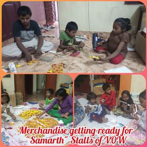 """Samarth"" Handicraft Stalls of 'Voice of World' to sell Diyas, Candles etc. prior to Diwali"