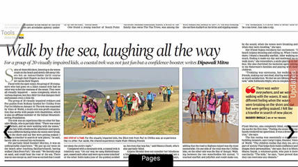 20 Visually Challenged on a 7 day trek by the Sea Shore