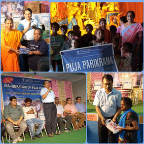 Puja Parikrama, for Persons with Disabilities from Rural Bengal, conducted by 'Voice of World'