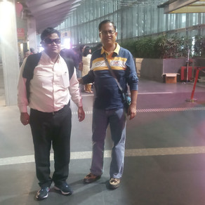 Completely Visually Challenged 'Bilwa' flying to Singapore for his maiden overseas performance
