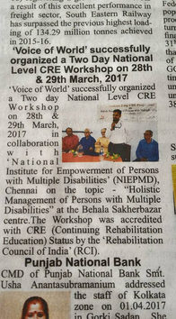 CRE Workshop organized by VOW