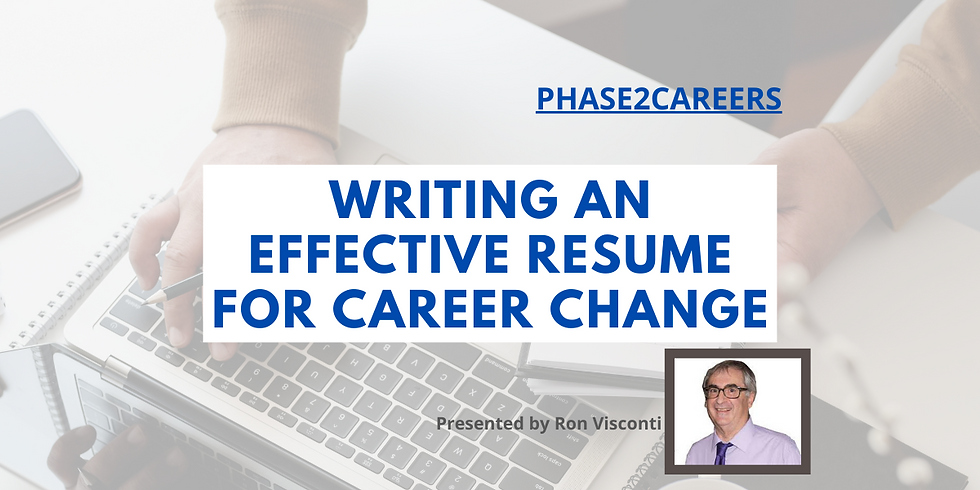 Writing an Effective Resume for Career Change