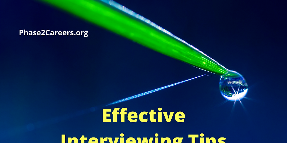 Effective Interviewing Tips from a Panel