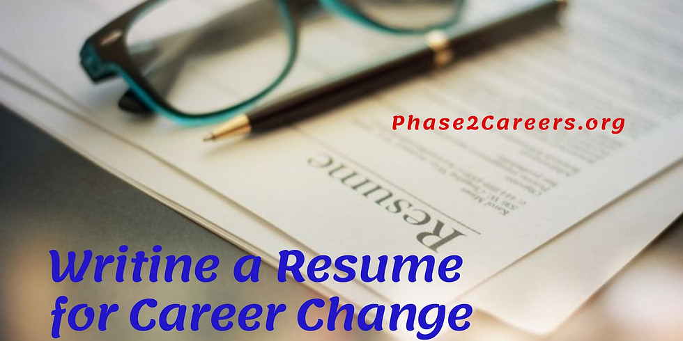 Writing a Resume for Career Change