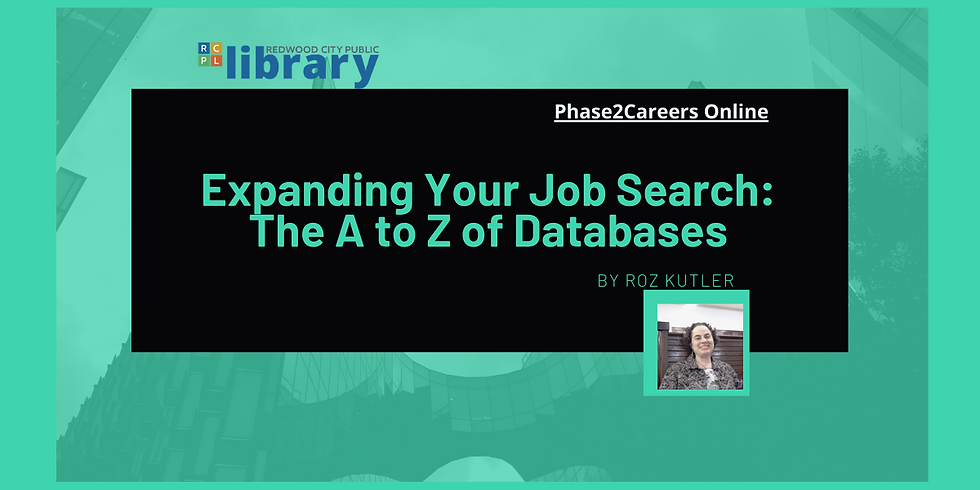 Expanding Your Job Search: The A to Z of Databases