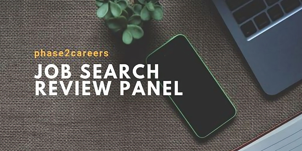 Job Search Review Panel (New Location! New Date!)
