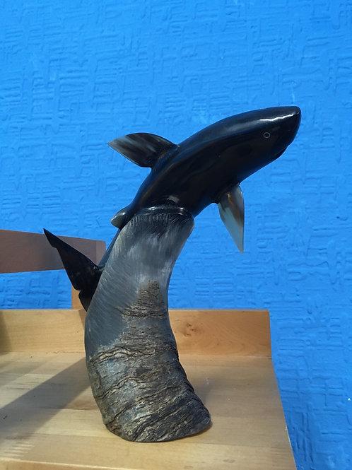 Shark sculpture  (bone )