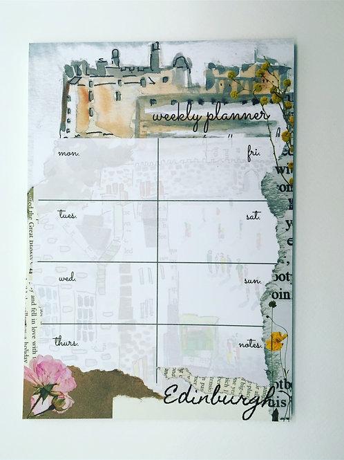 Edinburgh  weekly planner