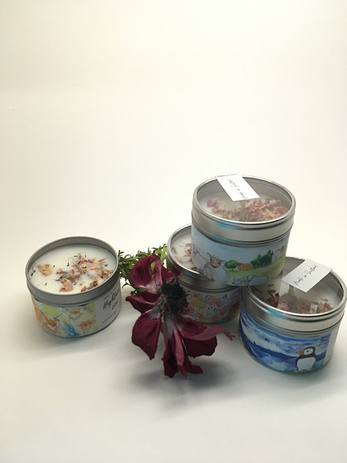 Soy wax candles (inspired in Scotland scents)