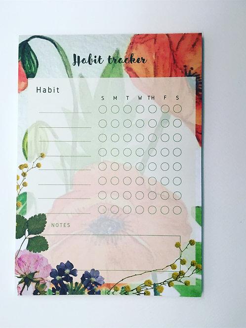 Habit tracker  notepad