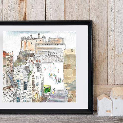 Edinburgh castle, square