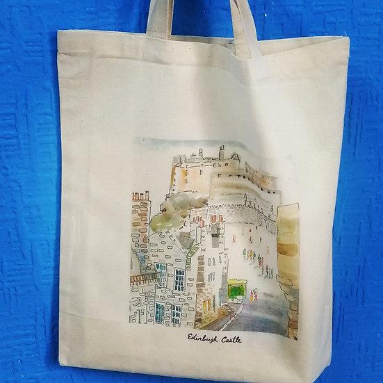 Canvas bag Edinburgh castle