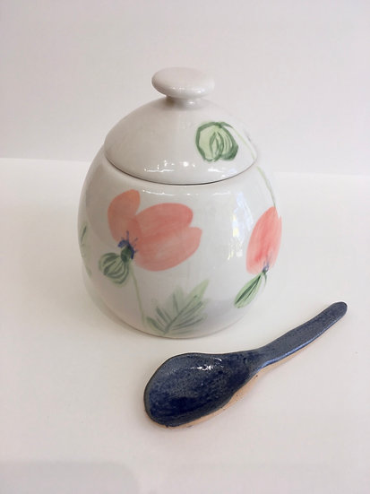 Hand painted  sugar  bowl
