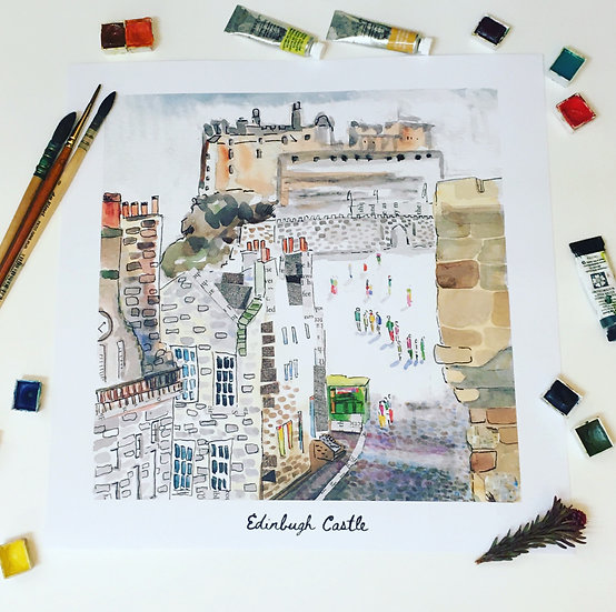 Edinburgh castle square print