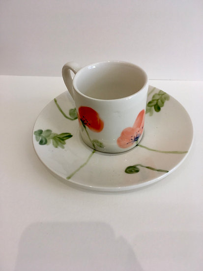 Hand painted expreso  cup