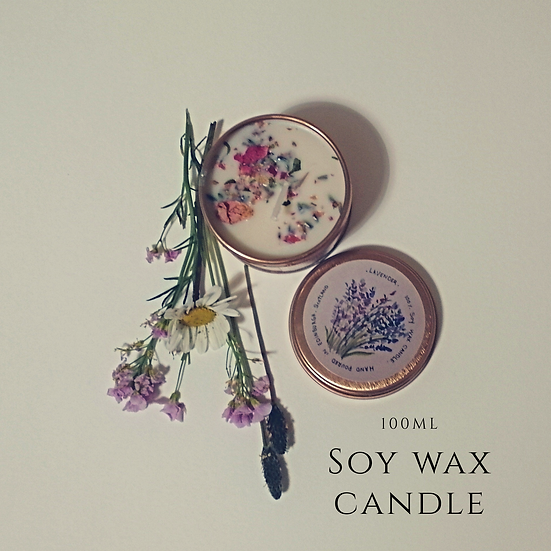 (Lavender) vegan soy wax candle
