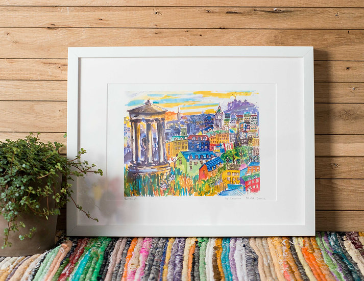 Edinburgh watercolour Illustrations by Leamne Arias Deniz