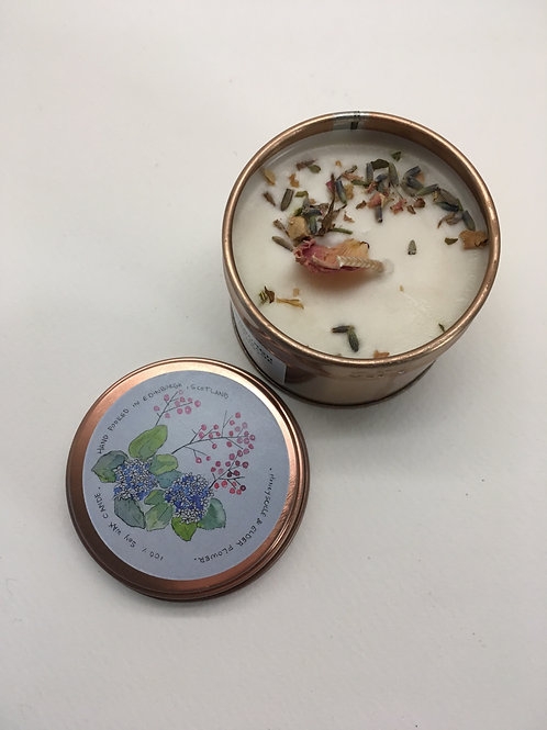 Elderflower vegan soy wax candle