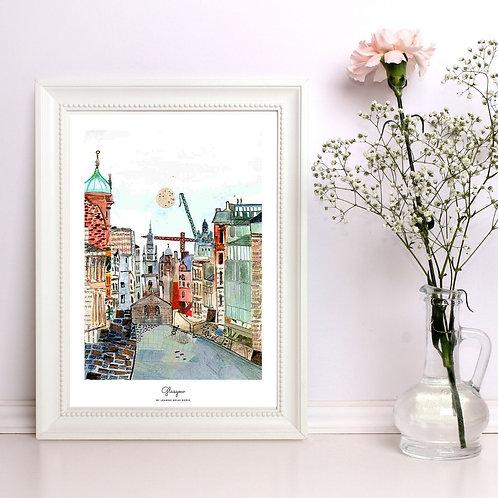 Glasgow watercolour Illustrations by Leamne Arias Deniz