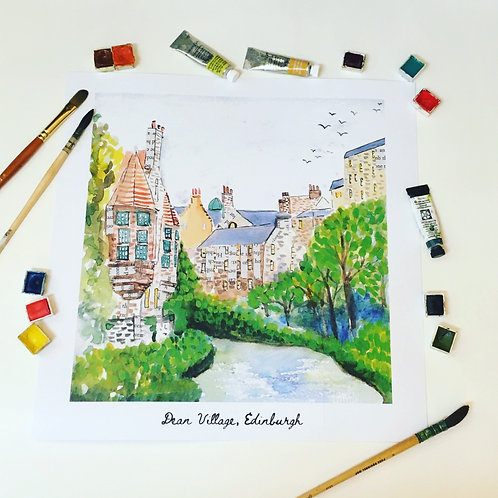 Dean village, square print