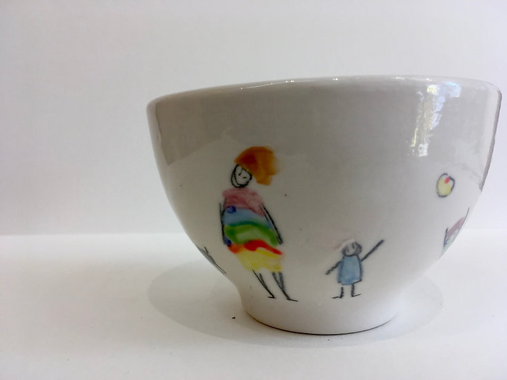 Small hand painted bowl