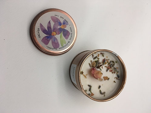 orchids vegan soy wax candle