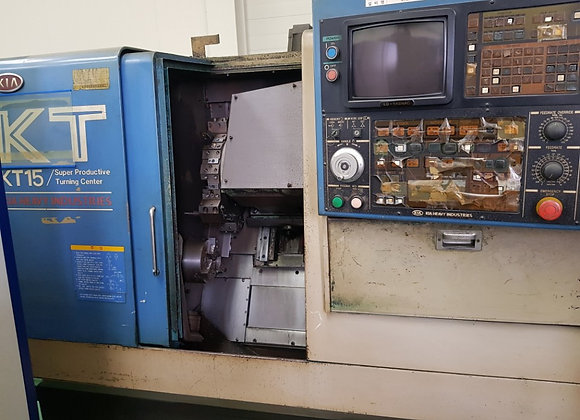현대위아(기아기공) 1999년식 6인치 CNC선반 KT15