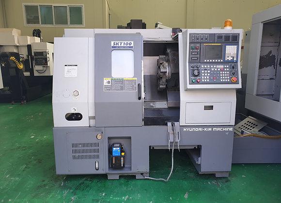 현대위아 2010년식 6인치 CNC선반 SKT100