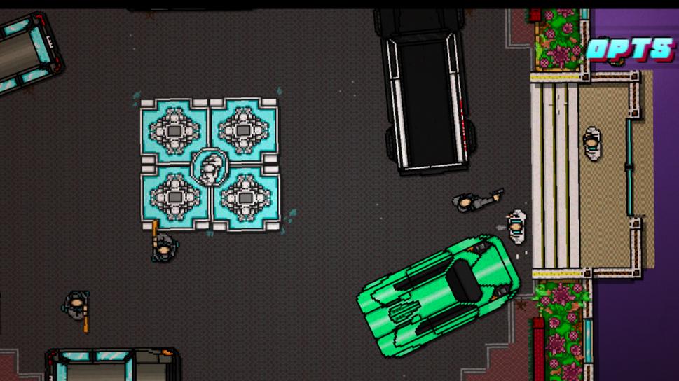 Two mafioso guarding the door:
