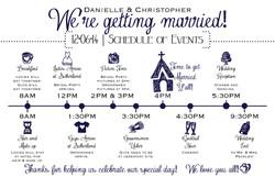 Timeline for Wedding day