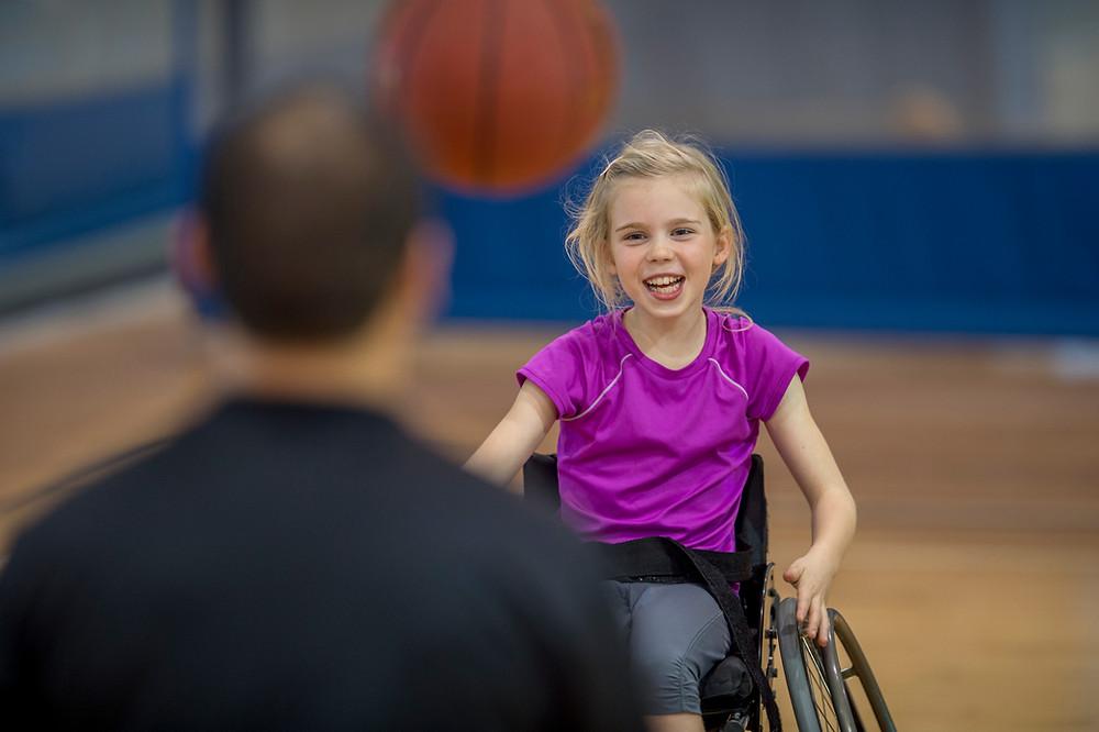 child in wheelechair