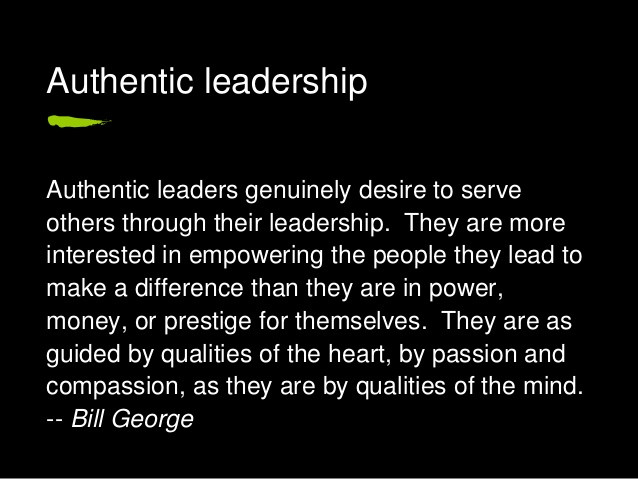 BILL GEORGE LEADERSHIP AUTHENTIQUE