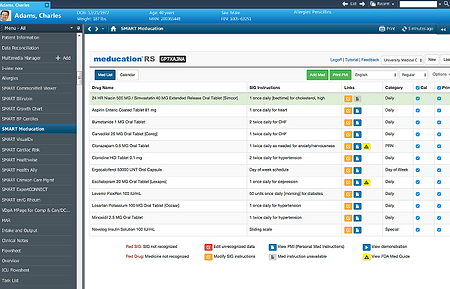 Polyglot's Meducation RS SMART on FHIR App