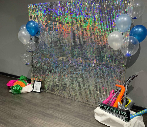 Glitter shimmer wall for hire