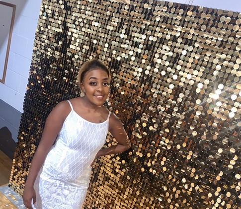 Golden Shimmer Wall