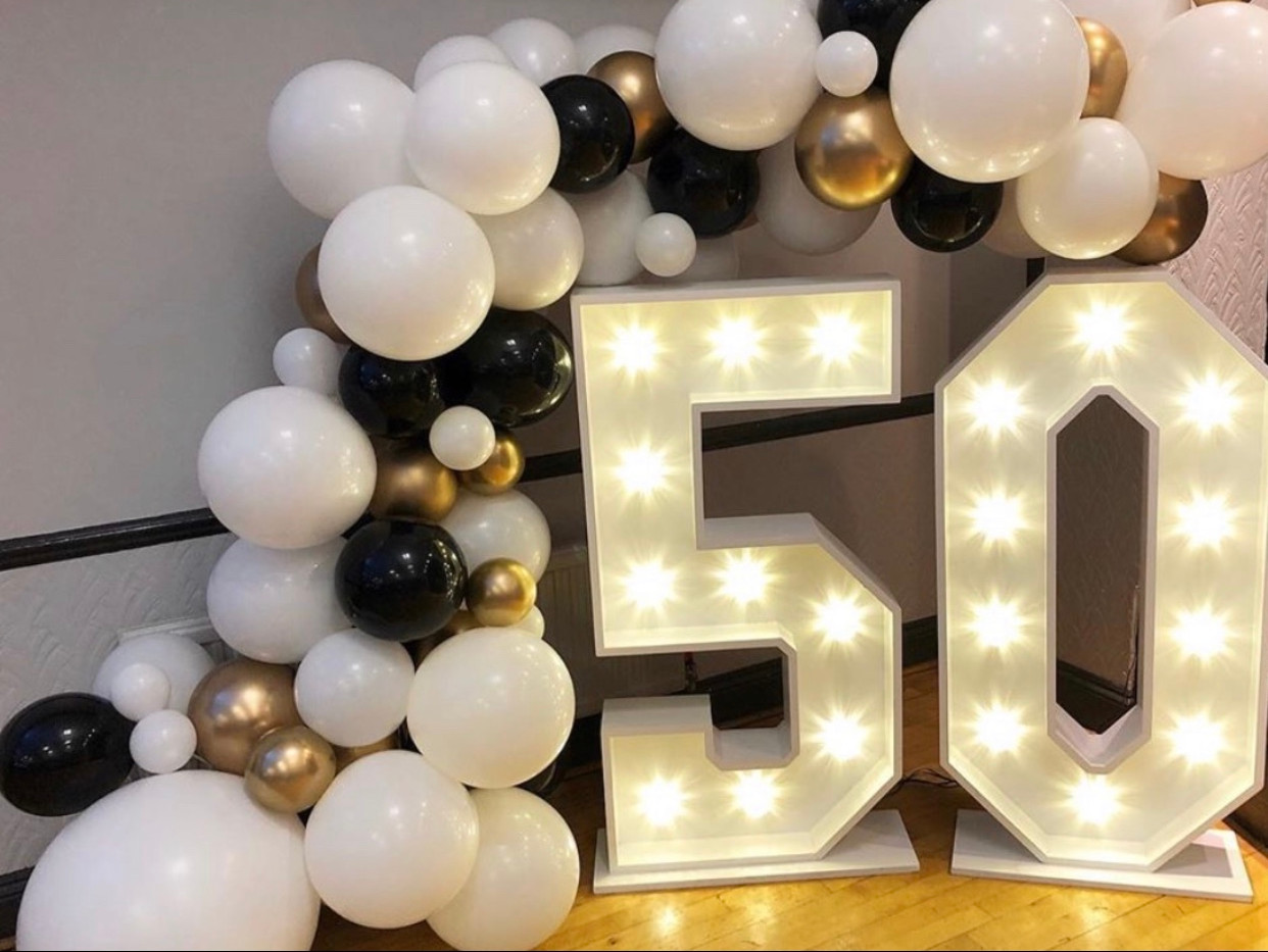LED 50 light up numbers