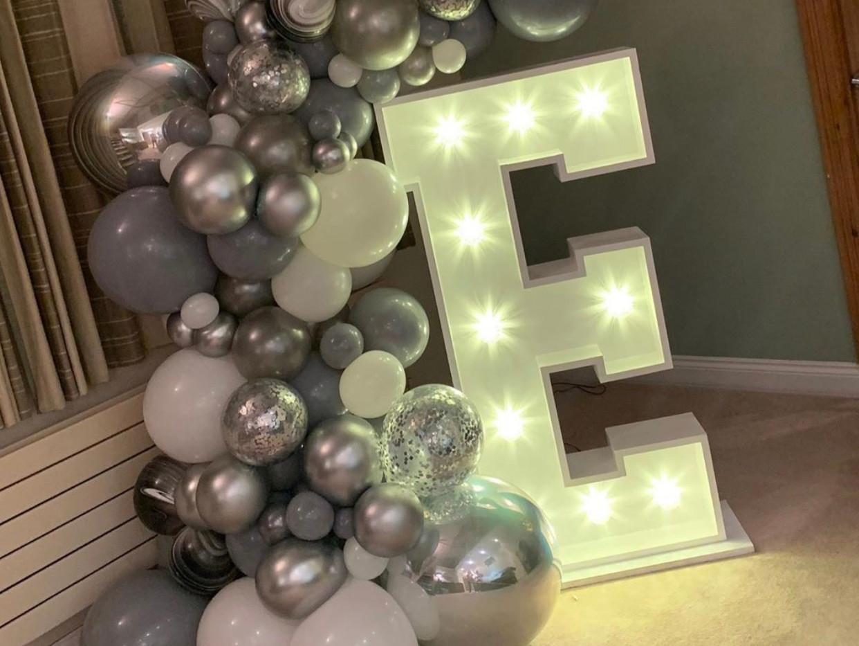 LED light up letter E
