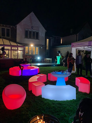 LED Garden Furniture Hire