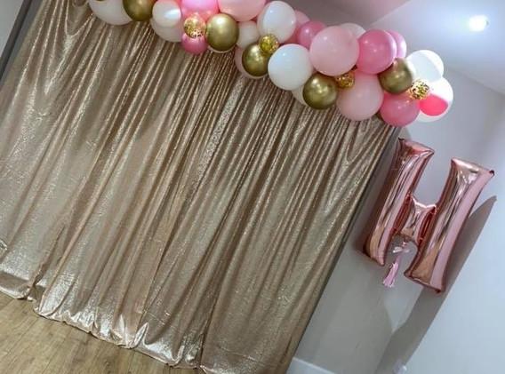 Curtain Backdrop Hen do