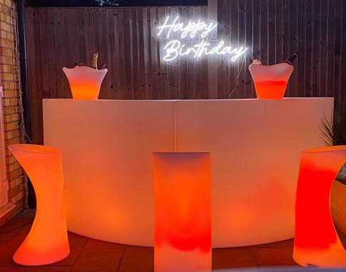 LED light up furniture