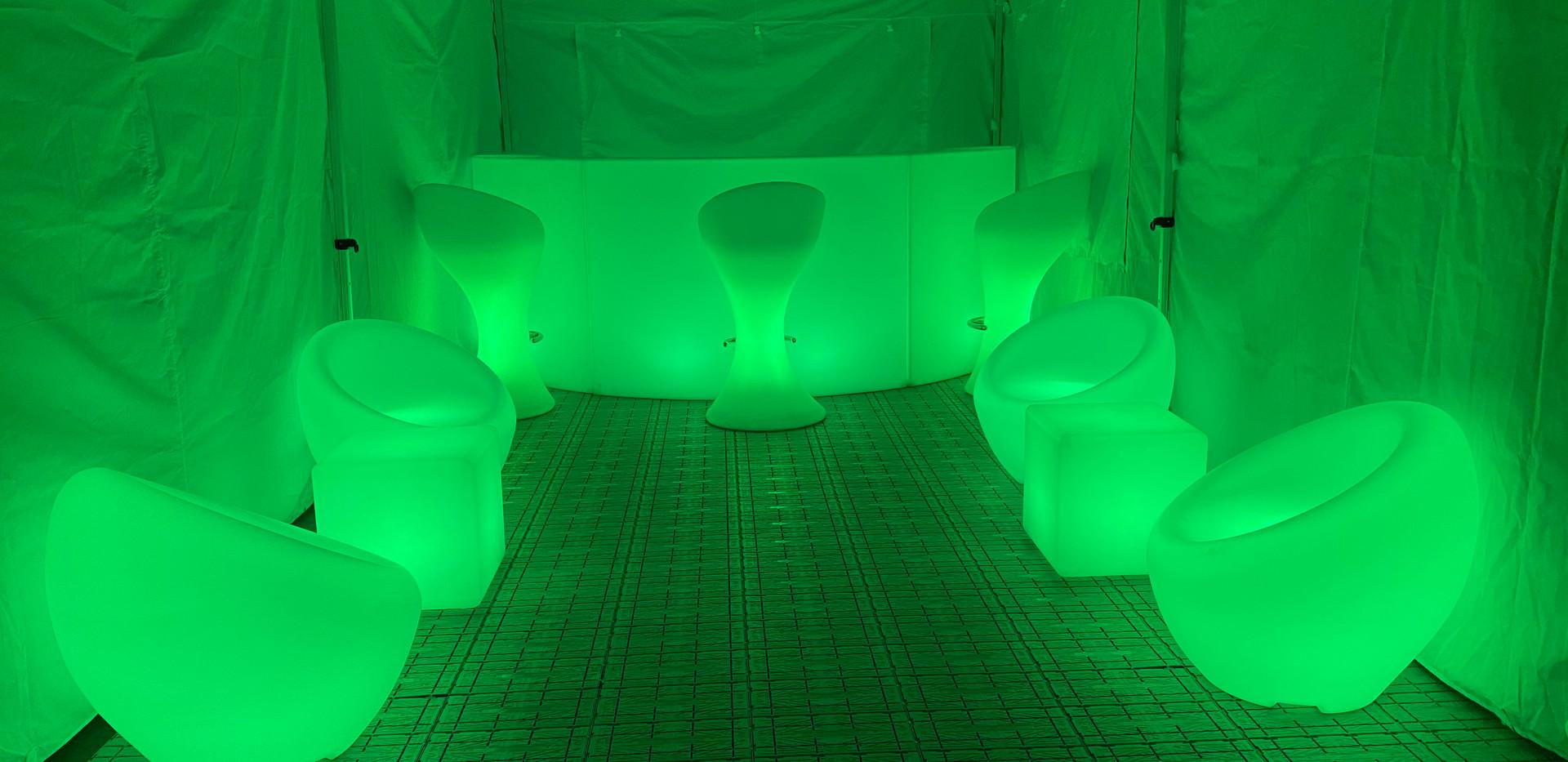 Light up garden furniture