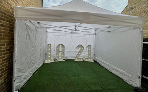 4x4 metre marquee